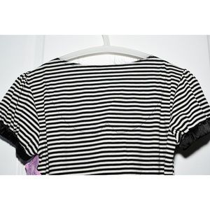 BCBGeneration Tops - BCBGeneration Tanya Striped Puff-Sleeve Tee